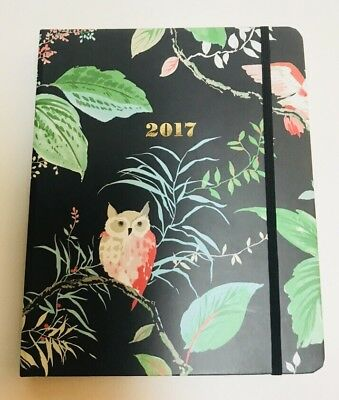NEW Kate Spade Birch Way Owls Set The Stage 17-Month Large Agenda Planner 2017