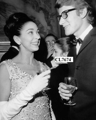 Margot Fonteyn and Yves Saint Laurent at Premiere of Opera 'Tosca' Photo