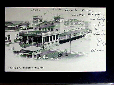 1902 Steeplechase Pier Atlantic City NJ post card
