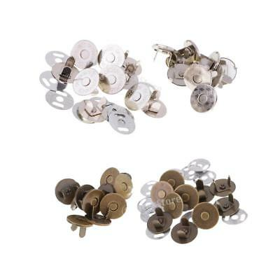 10 Sets 14mm/18mm Magnetic Snap Fasteners Clasps Button For Handbag Purse Wallet