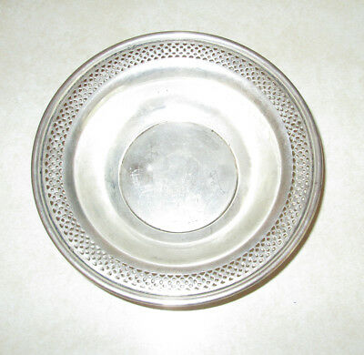 Lunt Sterling Silver 5-7.8 Inch candy dish nut bowl Pierced 108 PD