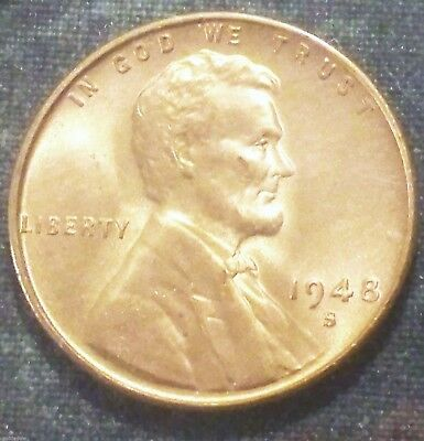 1948 S Wheat Penny BU FuLL RED BRILLIANT UNCIRCULATED  Scarce San Francico Cent!