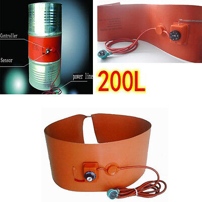 200L/55Gallon Silicon Band Oil Heating Drum Heater for Biodiesel Metal Barrel ES