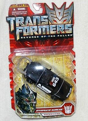 Transformers Revenge of the Fallen Interrogator Barricade Deluxe Class sealed