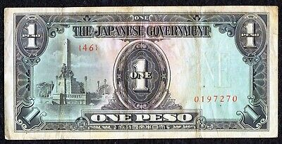 Philippines, 1943 The Japanese Government 'WWII' - 1 Peso Currency/Note