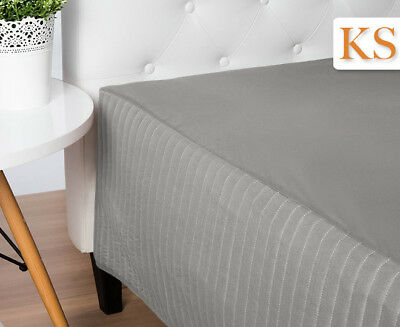 Ardor Boudoir King Single Classic Quilted Valance - Silver