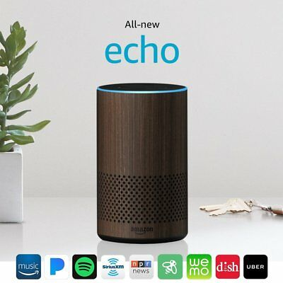 All-new Echo (2nd Generation) improved sound powered by Dolby - Walnut Finish