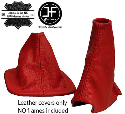 Red Leather Automatic Gaiter Set For Land Rover Discovery 200Tdi 300Tdi Td5 V8