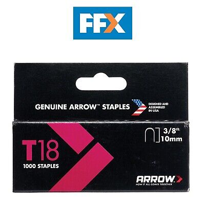 Arrow A186 Box of 1000 10mm 3/8in T18 Staples
