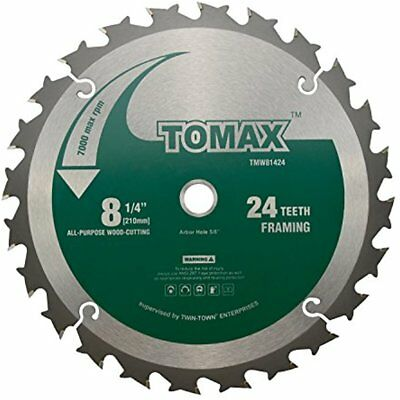 Miter Saw Blades 8-1/4-Inch 24 Tooth ATB Framing With 5/8-Inch DMK Arbor