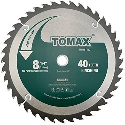 Miter Saw Blades 8-1/4-Inch 40 Tooth ATB Finishing With 5/8-Inch DMK Arbor