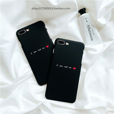 check out e839f e1b4a FASHION COUPLE PHONE Case Flower Love Heart Letter For iPhone 6 6S 7 8 Plus  X