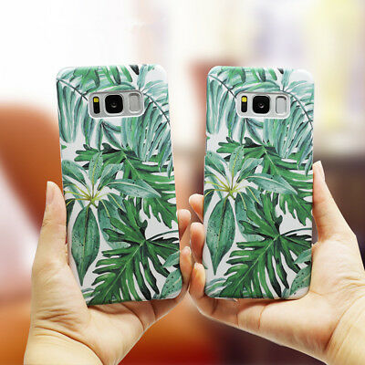 Green Tropical plants Leaves Hard Phone Case Cover For Samsung S7 Edge S8 Plus