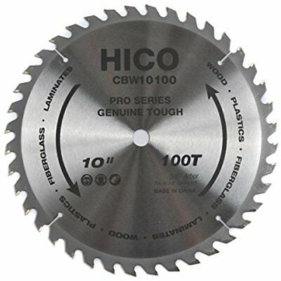 "Miter Saw Blades 10"" 100-Tooth ATB Thin Kerf General Purpose With 5/8-Inch Arbor"