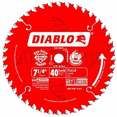 Circular Saw Blades D0740A Diablo 7-1/4 Tooth ATB Finishing With 5/8-Inch Arbor,