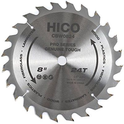 Miter Saw Blades 8-Inch 24-Tooth ATB Thin Kerf With 5/8-Inch Arbo