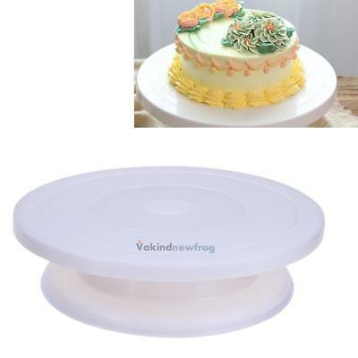 27.5cm Rotating Cake Icing Decorating Revolving Baking Display Stand Turntable