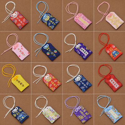 Embroidery Chinese knot Pendant Janpan Omamori Good Fortune Love Safety Decor 1x