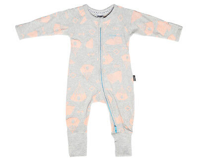 Bonds Baby Size 000 Wondersuit - Grey/Orange