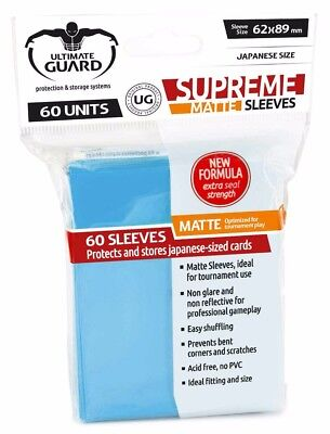 180 Ultimate Guard - supreme matte sleeves - 3x 60 - light blue