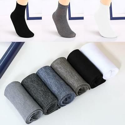 5 Pairs Ventilation Men Cotton Short Bamboo Fiber Solid Socks Middle Stockings.