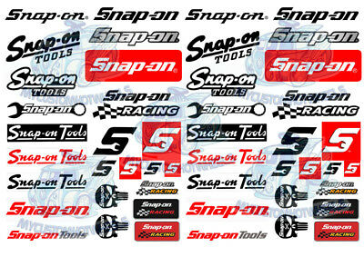 Snap-On Tools - Waterslide Decals for model cars in all popular scales