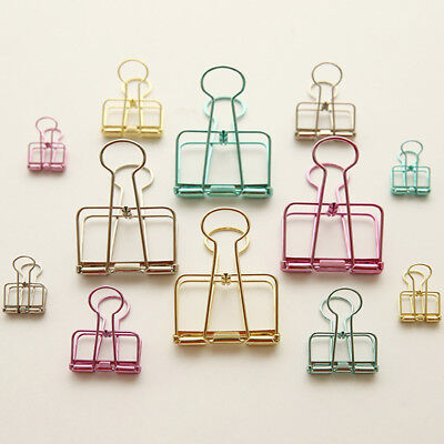 20Pcs Metal Binder Clips Bookmarks Stationery File Paper Organizer Clips Healthy