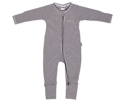 Bonds Baby Size 0 Wondersuit - Black Stripe