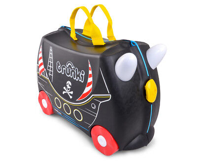 Trunki Kids' 46x32cm Pedro Pirate Carriage Ride-On Suitcase - Black