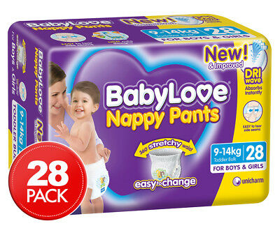 BabyLove Nappy Pants Toddler 9-14kg, 28pk