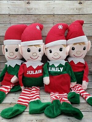 personalized plush christmas elves boy or girl elf on a shelf gift for