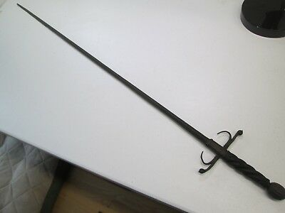 Old Early 1600's European German Rapier Sword With No Scabbard