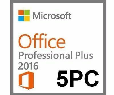 Microsoft Office 2016 Professional PLUS MS OFFICE 2016 5 PC Produktkey per email