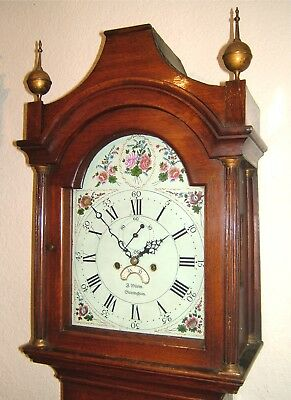 A Georgian Oak 8 day Longcase Grandfather clock C1800