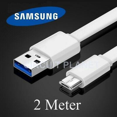 2m Micro USB Sync Charging Charger Cable Lead For Samsung Galaxy J5 (2017) White