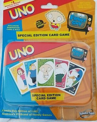 Family Guy Uno Special Edition Tin Card Game MINT IN PACKAGE