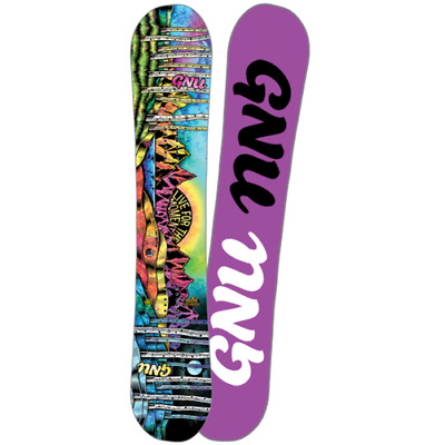 Gnu Womens Snowboard - Ladies Choice - Asymmectrical Twin, Magne-Traction 2018
