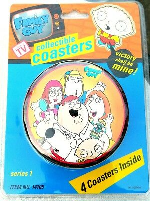 Family Guy DRINK COASTERS BARWARE Special Edition Tin  MINT IN PACKAGE SERIES 1