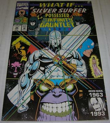 WHAT IF #49 SILVER SURFER POSSESSED THE INFINITY GAUNTLET (Marvel 1993) THANOS