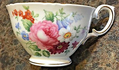 "Crown Staffordshire ""england's Bouquet"" Teacup & Saucer"