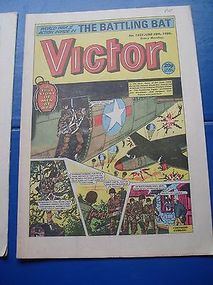 101st AIRBORNE SCREAMING EAGLES WW2  COVER STORY  IN VICTOR COMIC 28/6/1986
