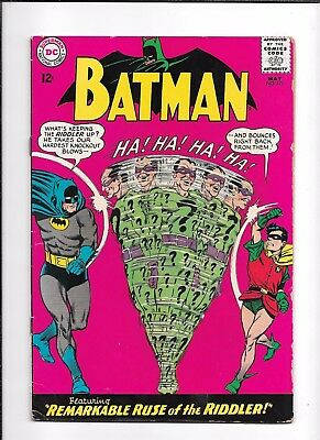 Batman #171 ==> Vg+ 1St Silver Age Appearance Of The Riddler Dc Comics 1965