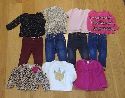Lot of 11~Girl Clothes Sweaters Tops Jeans~18 Months~Rumm Old Navy H&M etc ~EUC