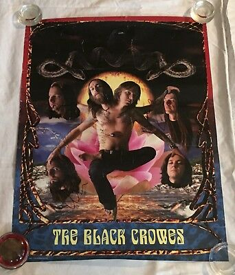 "The Black Crowes Signed ""Three Snakes And One Charm"" Promo Poster"