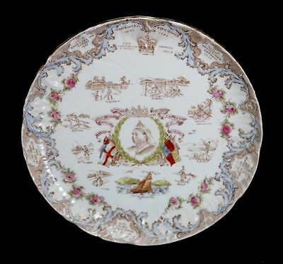 Sampson Bridgwood Queen Victoria Diamond Jubilee 1897 commemorative plate