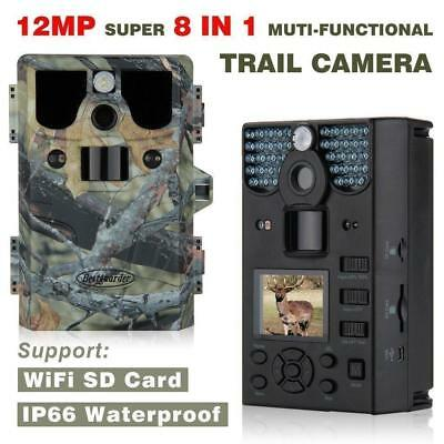 12MP 1080P HD Waterproof IP66 Infrared Night Vision IR LED Game and Trail...