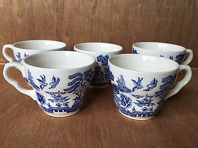 Vintage Blue Willow Cup and Saucer Sets from England-EIT Ironstone ...