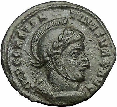 Constantine I the Great 318AD Rare Authentic Ancient Roman Coin Victory i54907