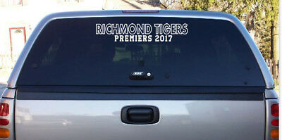 Richmond Tigers Premiers 2017 -  Vinyl Decal Car Sticker