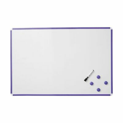 J.Burrows Magnetic Whiteboard 900 x 600mm Purple